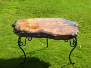 oak resin coffee table