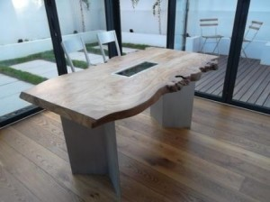 scottish burr elm dining table