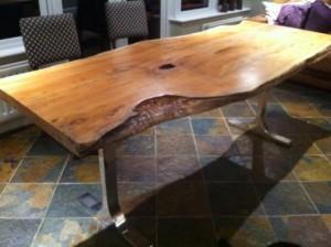 Live edge slab tables