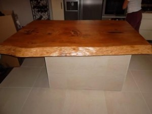 cedar slab counter island top