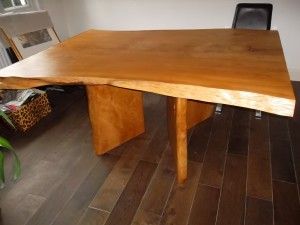 Cedar slab table