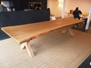 Natural oak refectory table
