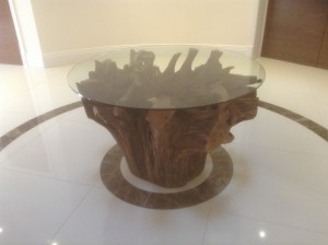 Tree root dining tables, root dining tables