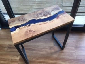oak resin stream side tables