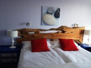 tree slice headboards