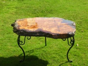 oak resin coffee table