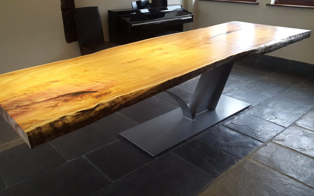 Handcrafted solid wood dining table