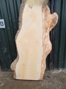 Waney edge timber slabs