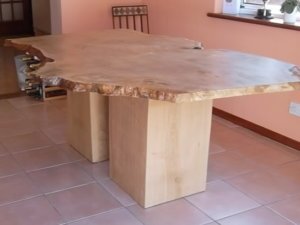raw edge wood dining tables