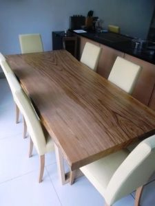 Single slab dining tables