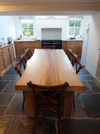 Wood slab dining tables