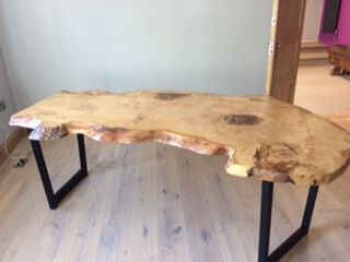 Live edge wood  slab dining tables