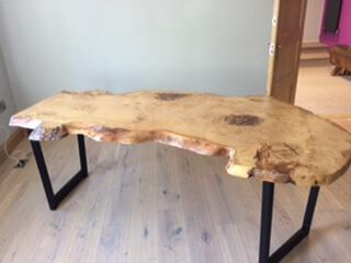 Live edge wood  slab dining tables