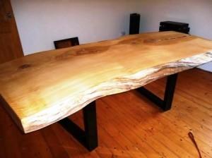 Live Edge Bow Tie Oak Table
