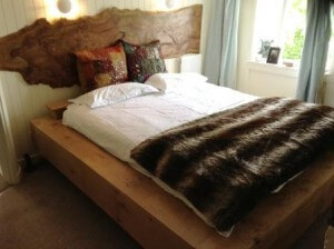 Bespoke wooden bed