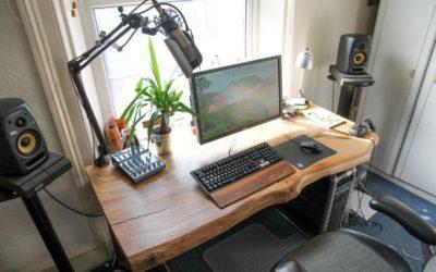 Live edge oak office desk