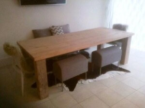 pitch pine farmhouse dining table