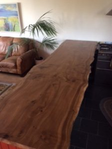 Tree slice bar tops, live edge bar tops, natural edge bar tops.
