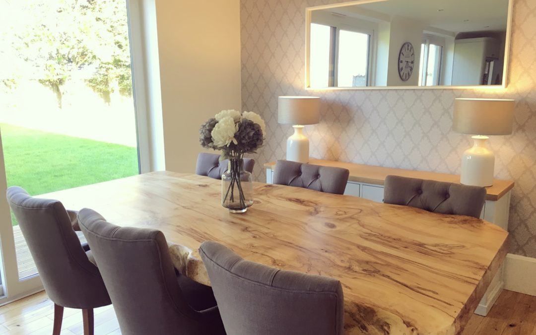 Natural edge dining tables