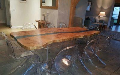 Resin stream tables