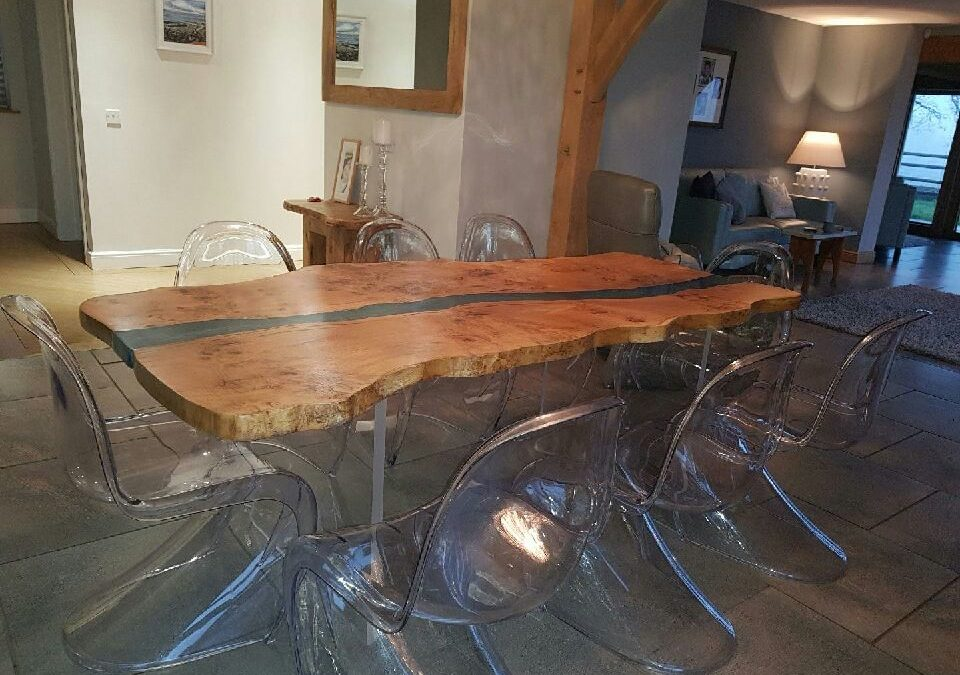Resin stream tables