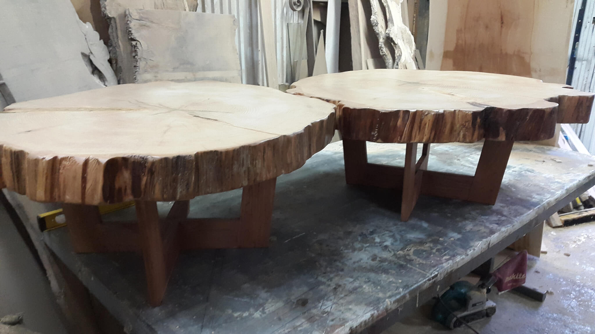 Natural Disk Coffee Tables