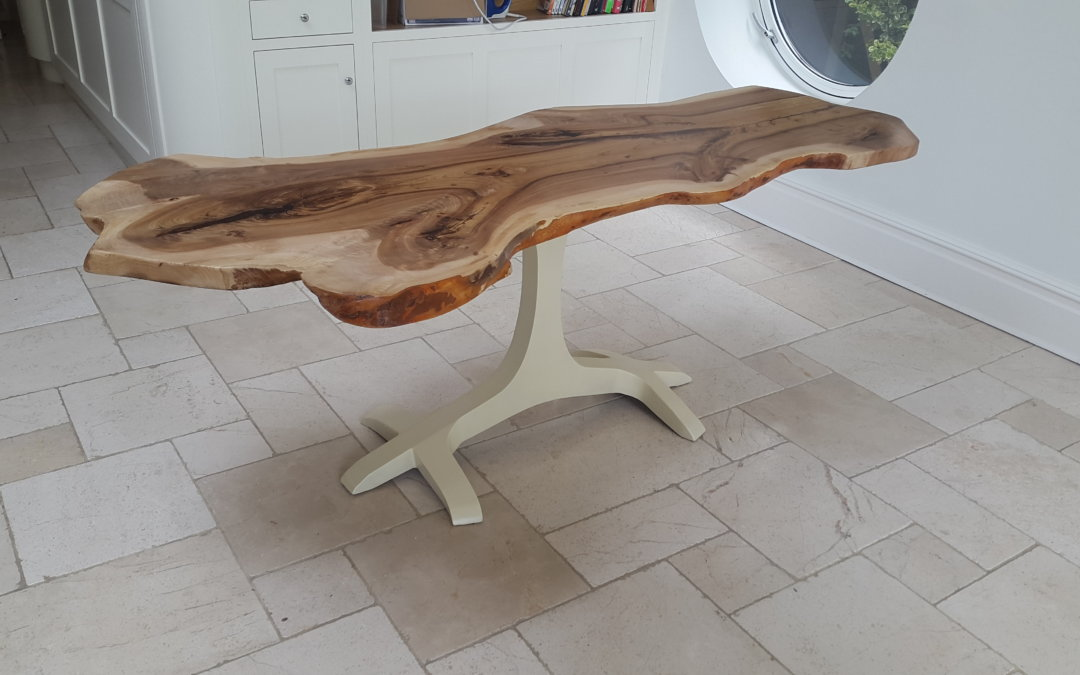 Natural live edge slab dining tables