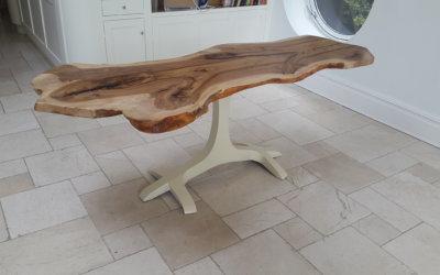 Natural live edge slab dining tables