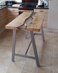 Bar height kitchen table