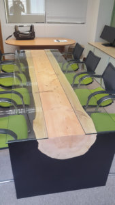 tree trunk dining tables