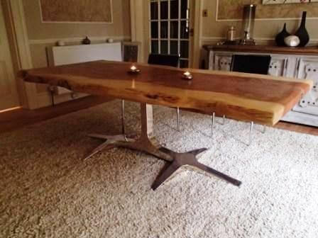 Living edge dining tables