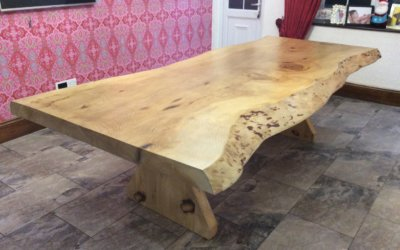 Dining room tables made from trees
