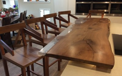 Natural wood bar tops