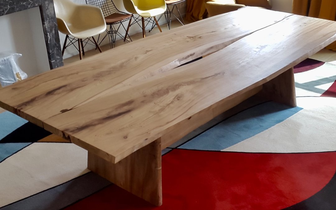 Live edge twin dining tables