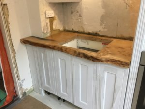 Natural edge kitchen worktops