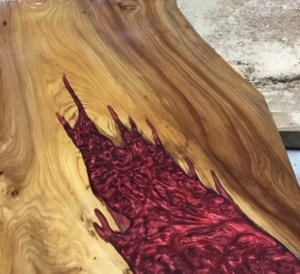 Resin wood tables